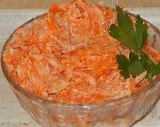 Салати з моркви фото