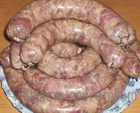 Колбаса свиная в домашних условиях пошаговый рецепт с