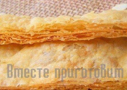 Сделать слоеное тесто рецепт фото