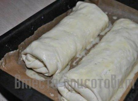 Штрудель с капустой рецепт с фото