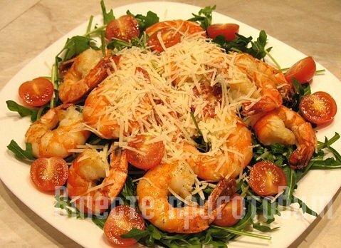 Простые салаты из креветок рецепты с
