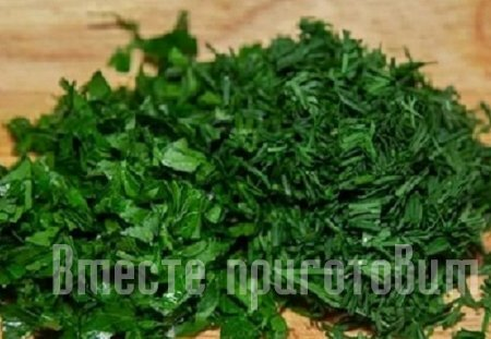 Паста с креветками и зеленью