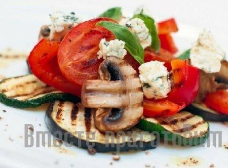 Запечённые овощи с сыром
