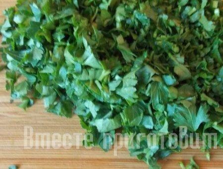 Креветки гриль с овощами